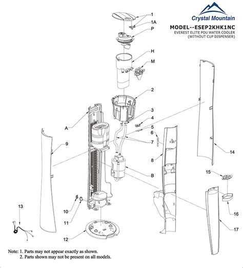 water dispenser diagram primo water dispenser replacement parts images