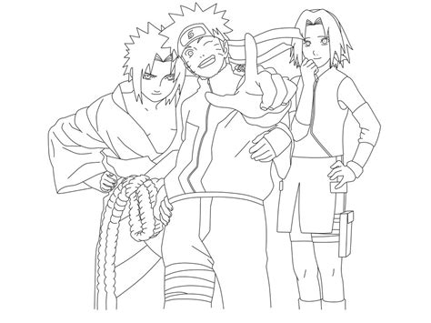 Team 7 Coloring Pages by Shippuden Team 7 By Jdmd 54 On Deviantart