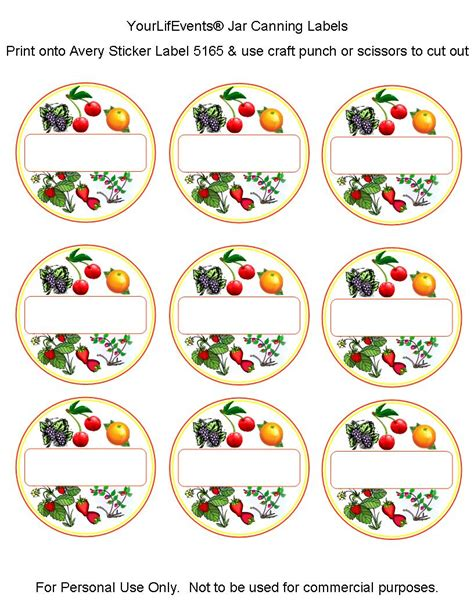 free printable jar labels canning labels free printables fruit vege jar canning