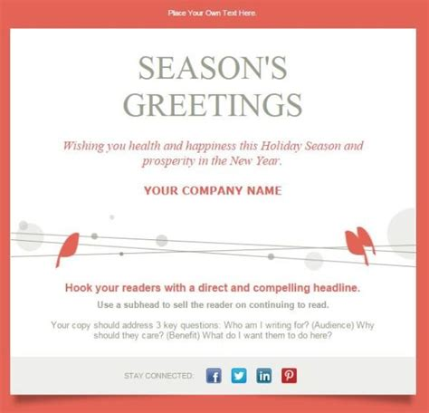happy holidays email card template 11 email templates for small businesses