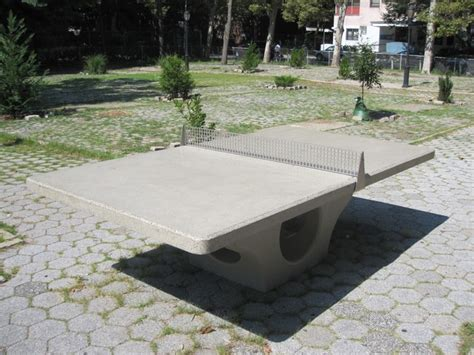 Concrete Ping Pong Table by Outdoor Ping Pong On The Table For East S Tompkins