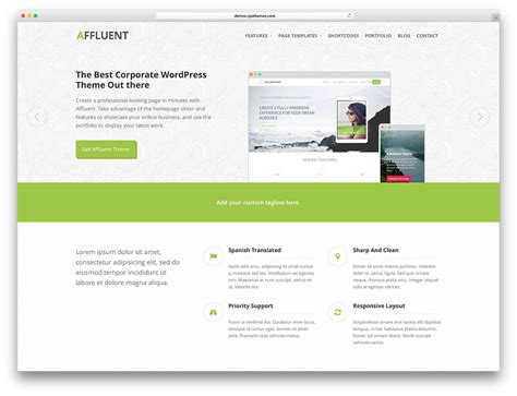 wp pages and templates 50 best free responsive wordpress themes 2018 colorlib
