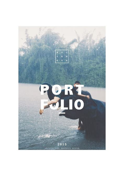 graphics design books pdf graphic design portfolio 2015 by nelson koe issuu