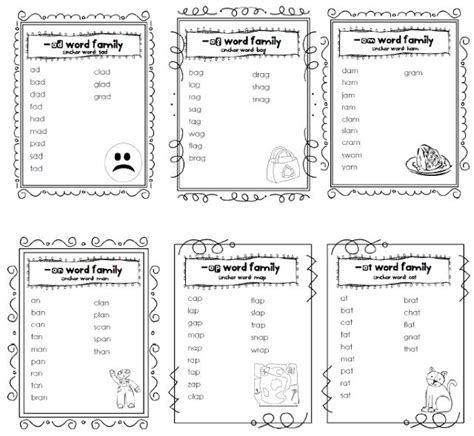 At Word Family Worksheets Free by New 679 Word Family Sort Worksheet Family Worksheet