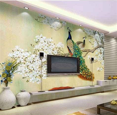 3d wall mural 3d wall murals wallpaper peacock classical aesthetic high end mural for tv sofa background