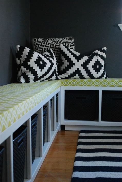 ikea corner bench seating diy ikea hack expedit benches and toy storage could