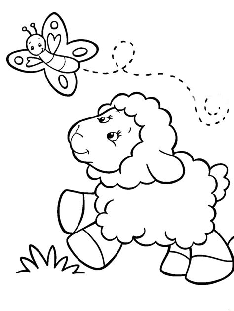 sheep coloring page coloring pages for az coloring pages