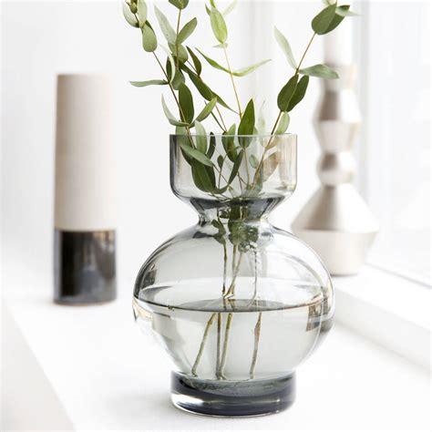 Grey Vase Grey Glass Vase By All Things Brighton Beautiful