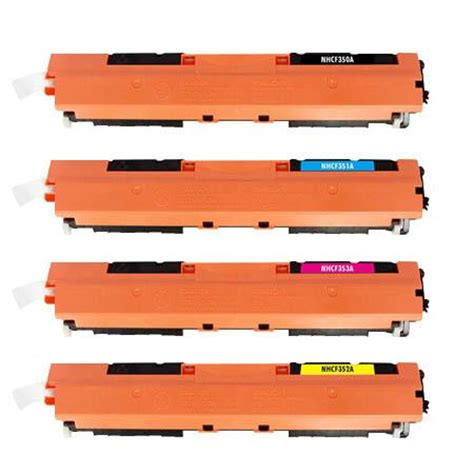 Toner Hp Cf350 Cf353 Colour Compatible toner laser 233 quivalent hp 130a compatible pack 4 couleurs
