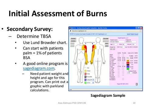 burn analysis template lecture four burns aid