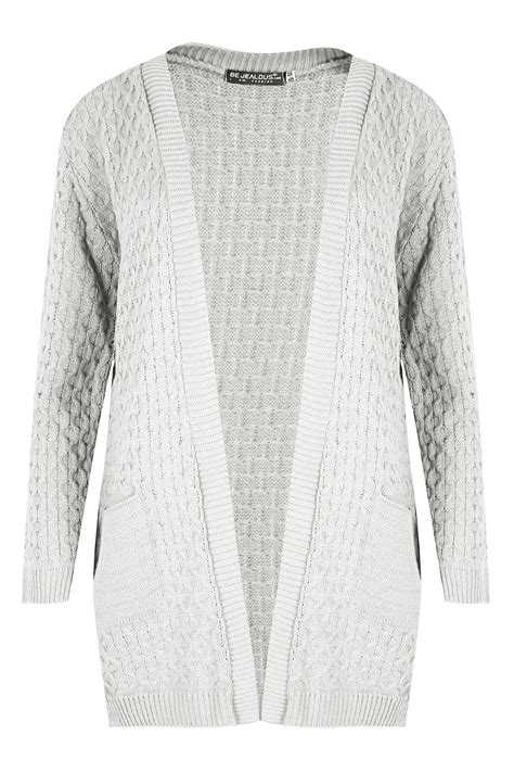 cable knit cardigan womens womens chunky waffle open front pocket top cable