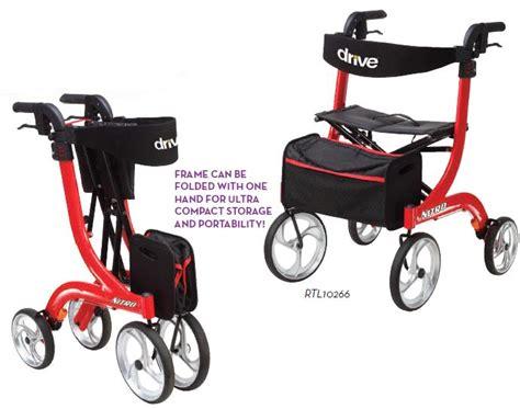 drive nitro rollator drive nitro rollator rollator side to side folding