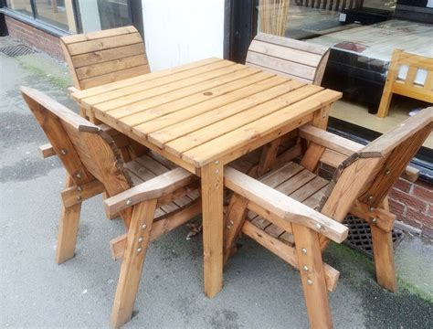 Unfinished Patio Furniture Solid Wood Garden Furniture Patio Garden Furniture Patio Set Table 6 Chairs Solid Real Wooden