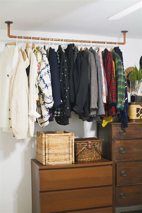 diy clothes storage how to hanging copper pipe clothes rack pipe clothes
