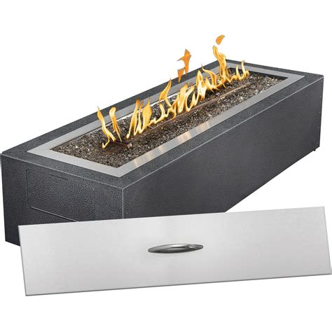 Outdoor Gas Firepits Napoleon Linear Patio 60 000 Btu Propane Gas Pit With Glass Embers Shopperschoice