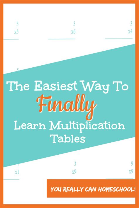 how to learn multiplication tables the easiest way to finally learn multiplication tables