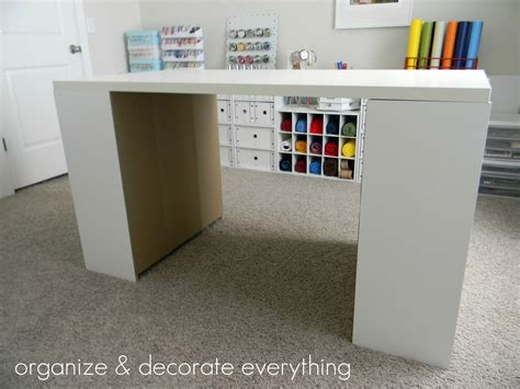 Craft Desk With Storage by Make Your Own Diy Craft Table Using Inexpensive Pieces