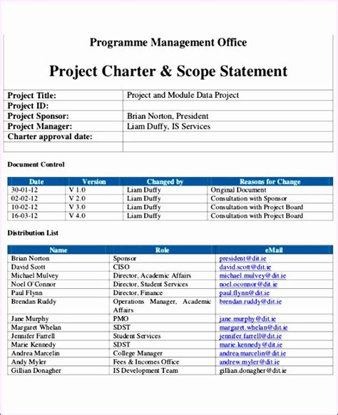Six Sigma Project Charter Template Excel by Six Sigma Project Charter Template Excel Ualyl Lovely