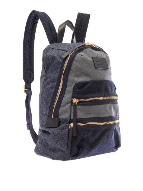 Patchwork Backpack - marc by marc patchwork denim backpack in blue for