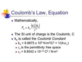 Charge Of A Proton In Coulombs Electric Forces And Electric Fields Ppt