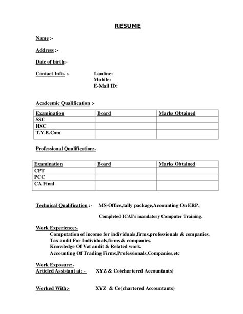 Resume Sample In Word Format For Freshers how not to make your cv