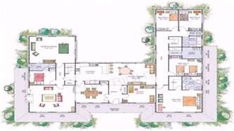 us homes floor plans house plans u shaped floor plan