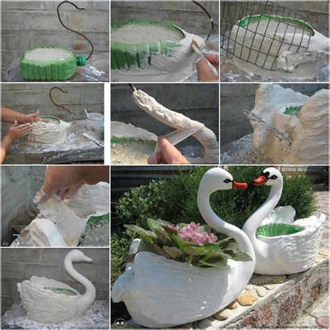How To Make A Book Planter by Diy Plastic Bottle Cement Swan Planters