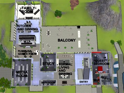 Free Blueprints For Houses Mod The Sims Luxury Modern Mansion The