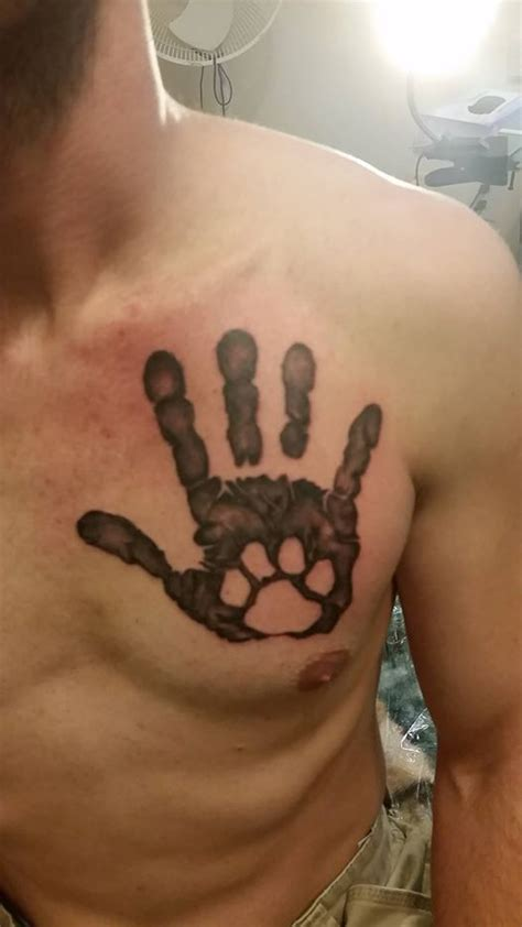 paw tattoo on chest meaning paw tattoo images designs