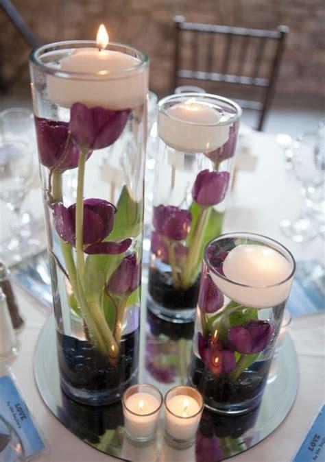 Tischdeko Hochzeit Glasvasen by Tischdeko Mit Tulpen Glasvasen Voll Wasser Kommunion