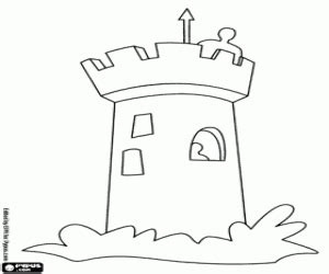 Small Castle Coloring Page | castles coloring pages printable games
