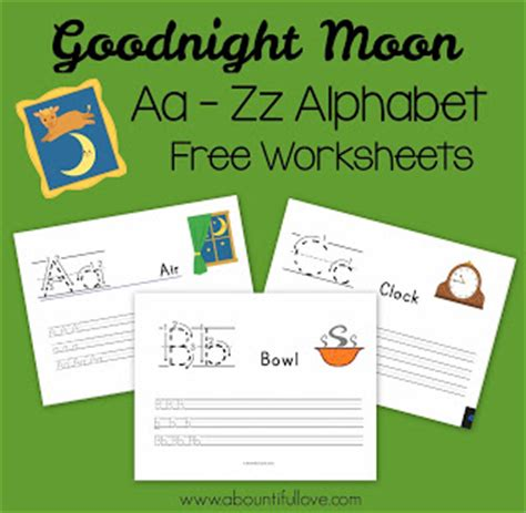 Goodnight Moon Worksheet by A Bountiful Goodnight Moon Free Printable Pack