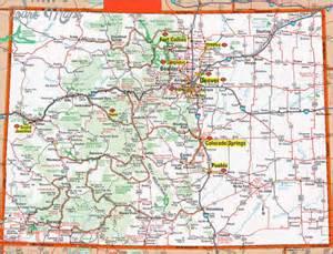 colorado map map travel vacations