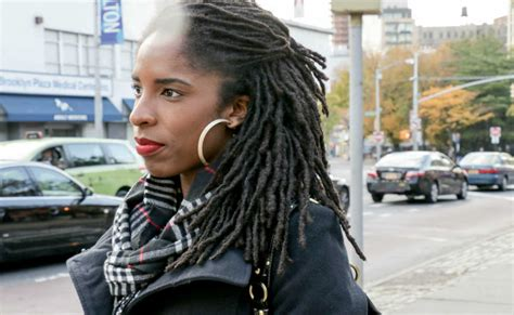 grid pattern dreads on the street ny side swept locs in brooklyn un ruly