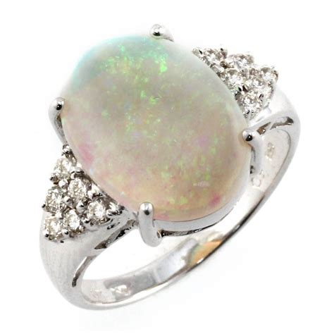 18ct white gold oval opal ring from mr harold