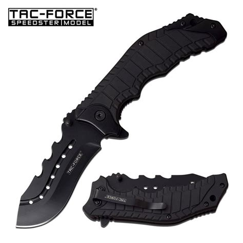 open knives 8 25 quot black tactical survival assisted open folding