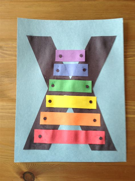 project x craft x is for xylophone craft preschool craft letter of the
