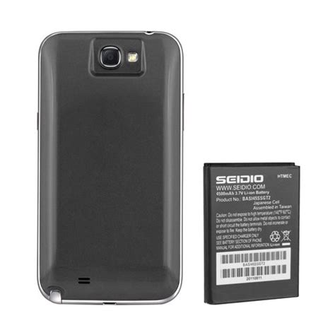 Samsung Battery Packing For Samsung Galaxy Note 2 Original seidio bacy45ssgt2 gy innocell 4500mah extended