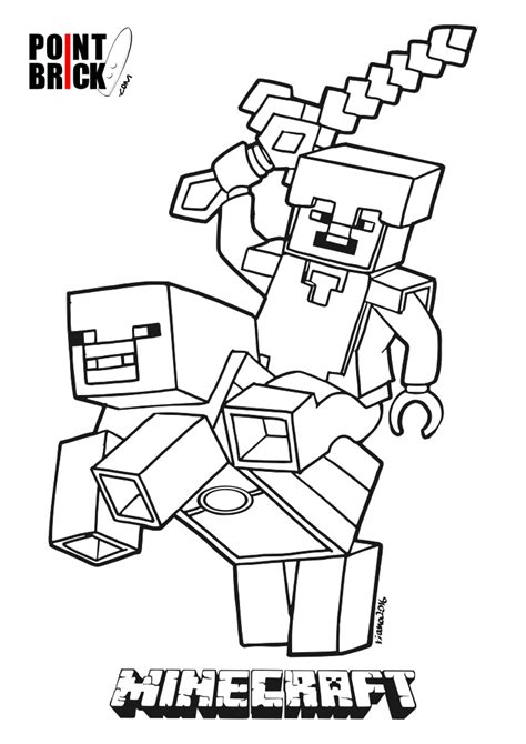 minecraft wars coloring pages disegni da colorare lego minecraft steve piggy
