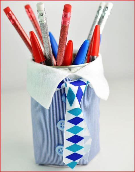 Fathers Day Handmade Gifts - s day pencil cup handmade gift allfreekidscrafts