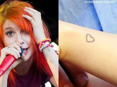 hayley williams tattoo hayley williams tattoos meanings style