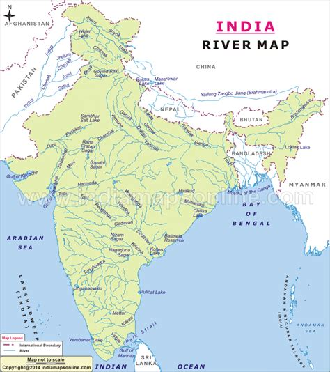 Rivers Of India Map Outline by Atlas Blank Map Of India With Major Rivers