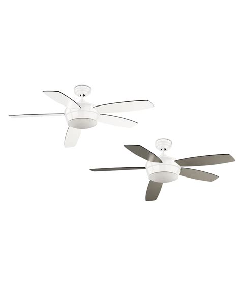 nickel ceiling fan with white blades modern and quiet ceiling fan white or nickel