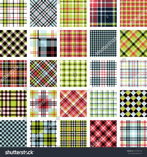 plaid design big plaid pattern set stock vector illustration 107356148