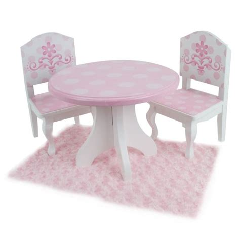 18 Inch Doll Table And Chairs by 18 Inch Doll Table Chairs Set Fits American Dolls