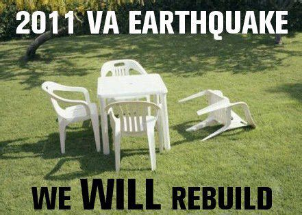 Lawn Chair Never Forget by Virginia Earthquake 2011 We Will Rebuild Never Forget
