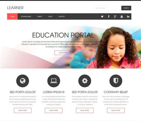education website 1000 images about free education html templates on