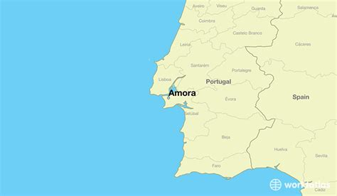 where is portugal located on the world map where is amora portugal where is amora portugal