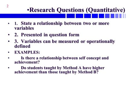 characteristics of a research question ppt download