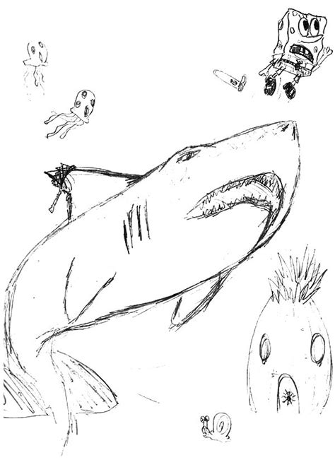 pin jaws coloring page on pinterest